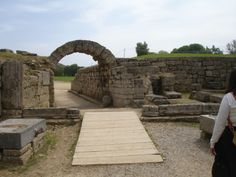 Ancient Olympia: the entrance to the stadium