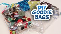 Great and easy tutorial for sewing clear plastic draw string bags!
