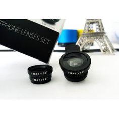 Obiektywy 3w1 makro rybie oko do telefonu smartfona Forever