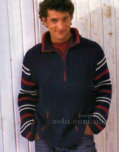 пуловер с карманами на молнии