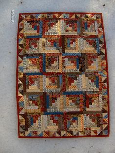 Miniature Log Cabin Quilt