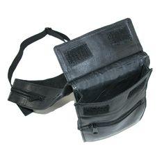 CTM® Unisex Leather Deluxe Travel Shoulder Wallet, Black