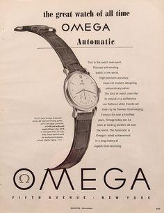 bd8da9b171d 1949 Omega Automatic Watch Vintage Magazine Ad.  omega  automatic  watch   ads