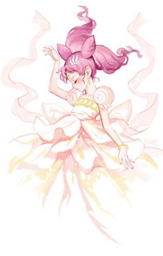 Nice Fan-art of Chibi-usa in Neo-Moon Princess form.