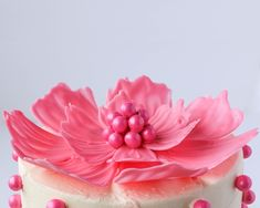 Шоколадные цветы для украшения торта 13