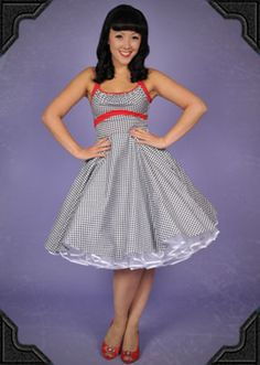 Gingham Swing Dress Deadly Females, Swing Dress, Gingham, Salsa, Fashion Dresses, My Style, Clothes, Fashion Show Dresses, Outfits
