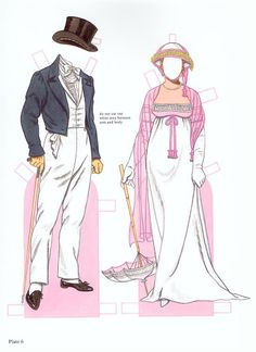 Fashion of the Regency Period Paper dolls by Tom Tierney - edprint2000paperdolls - Picasa Web Albums