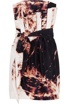 Sass & bide Afraid Of The Dark printed silk strapless dress - 65% Off Now at THE OUTNET
