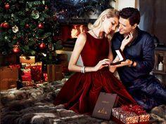 Anja Rubik & Sasha Knezevic for Apart's Christmas adv.Shot by Marcin Tyszka