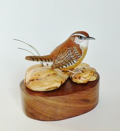 Carolina Wren carving By Tim McEachern