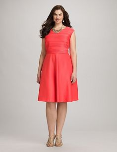 Plus Size Coral Jacket Dress | Dressbarn | Easter Dresses Plus ...
