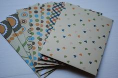 Buttery Yellow Patterned Set of 8 Handmade Envelopes by Paper Hearts Station on Etsy. $8.00, via Etsy.