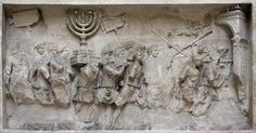 https://flic.kr/p/8aouZA | candelabra | Cast of the Relief from the Arch of Titus (after 81 AD.), showing The Spoils of Jerusalem, Museo della Civiltà Romana.