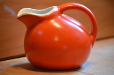 1940s Orange Creamer - Hall – Bright Jolly Color and Loads of Uses by TheOldBarnDoor, $10.00 USD