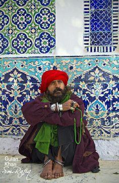 Sufi pray in Shrine of Shah Abdul Latif Bhattai (R A), Sindh Pakistan