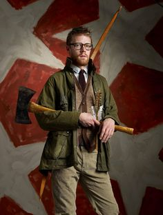 The Woodsman, Esquire of 12 Fashion Archetypes) Flannel Suit, Grey Flannel, Wool Suit, Waxed Cotton Jacket, Cotton Blazer, Cool Mustaches, Peter Beard, Wes Anderson Movies, Mustache Wax