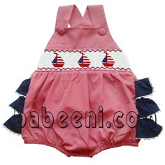 Red gingham ruffle bubble - DR 992