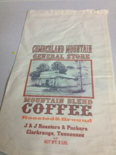 Vintage Mountain Blend Coffee Feed Sack Bag with Draw by redposie