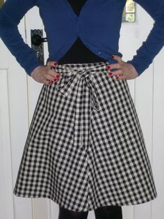 Cheap gingham fabric using Miette skirt pattern from http://www.tillyandthebuttons.com/p/make-it-yourself.html