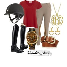 Maroon and MK by rider-chic on Polyvore featuring American Vintage, Michael Kors, Fornash, Topshop, Ariat and equestrian
