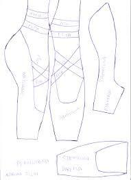 Resultado de imagem para molde de sapatilhas de ballet