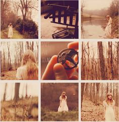 In case you guys missed some of the symbolism in the video, here ya go: Burned cabin, the river, the berries, the pin, the woods, three fires in the background, and the dead rue Taylor was carrying (not pictured).
