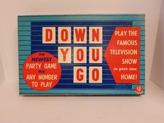 Vintage RARE Down You Go Board Game Selchow & Righter Vintage 1954 Like Hangman #SelchowRighter