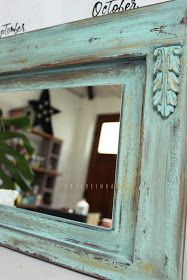 Antique Picture Frames, Mirror Mosaic, Rustic Bathrooms, Wood Interiors, Mocca, Colorful Furniture, Creative Home, Painting Techniques, Art Pictures