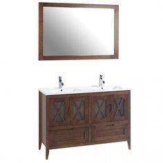 Mueble de baño rústico ÁVILA con patas 120 cm con LAVABO Vanity, Bathroom Vanity, Bathroom