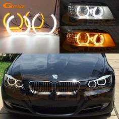 Find More Car Light Accessories Information about For BMW 3 Series E90 E91 2009 2012 Xenon headlight Excellent DTM Style LED Angel Eye Kit Dual White Amber switchback,High Quality Car Light Accessories from Geerge-Tech on Aliexpress.com