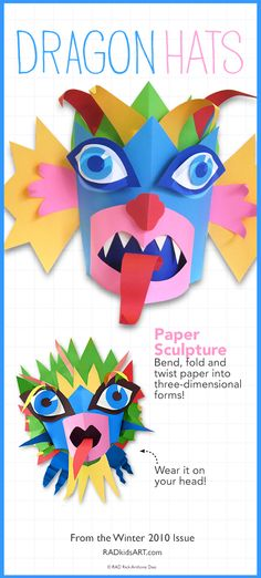 Birthday Dragon Mask  http://radkidsart.com