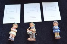 MINT-3pc-Studio-Hummel-Berta-Goebel-Ashton-Drake-Christmas-Ornaments-Set-8-COA