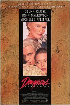 Dangerous Liaisons (1988) Drama/Romantiek, Frankrijk, 1788. De verveelde markiezin De Merteuil vraagt haar ex-geliefde Vicomte de Valmont om een gunst. Haar ex-echtgenoot gaat trouwen met de jonge aantrekkelijke Cecile de Volanges. De markiezin wil graag dat Valmont Cecile verleidt vlak voor haar trouwdag. Maar Valmont heeft een andere uitdaging in gedachten: Madame de Tourvel, een mooie, maar getrouwde vrouw. De markiezin daagt Valmont uit, ze gelooft niet dat hij in staat is haar te verleiden.