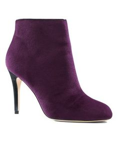 Midnight Burgundy Heeled Bootie