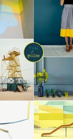 teal yellow mood the olive tree shop