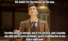 Hello, I'm the Doctor  Check out more funny pics at killthehydra.com