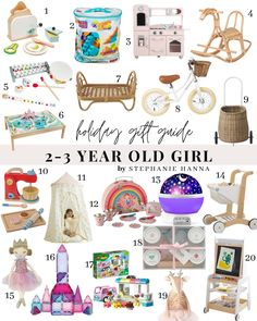 Christmas Gifts For 2 Year Olds, Gifts For 3 Year Old Girls, 2 Year Old Gifts, 4 Year Old Girl, Toddler Christmas Gifts, Christmas Gift Guide, 2nd Birthday Gifts, Girl 2nd Birthday, Toddler Girl Gifts