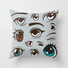 Anime Throw Pillow by Darish - $20.00