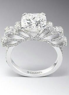 Chanel engagement ring? OMG !!!! I think this is the most BEAUTIFUL ring I've ever seen! ( well besides the one my Fiancee got me! :P )