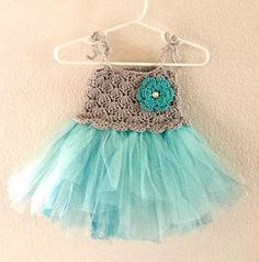 Crochet Baby Tutu Dress by The Pattern Girl If I can figure out crochet maybe I'll make one for the baby
