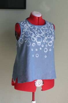 Made with bleach pen, Sewing Workshop pattern called Mixit.  4-Hers could use a ready-to-wear garment for Decorate Your Duds!