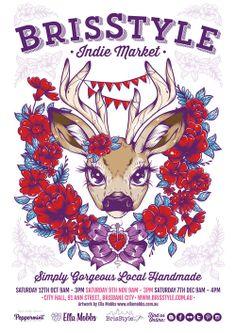 Bondville: Brisstyle Indie Designer Markets and Ella Mobbs poster