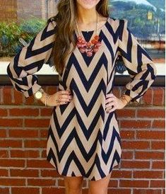 LAST LARGE-Black and Tan Chevron Dress Thank you for stopping by. Super cute Black and Tan Chevron dress in size large. Please feel free to purchase this listing. Price is firm. Beauty And Fashion, Look Fashion, Fashion Design, Fashion Women, Dress Fashion, Autumn Fashion, Trendy Fashion, Fashion Sale, Classy Fashion