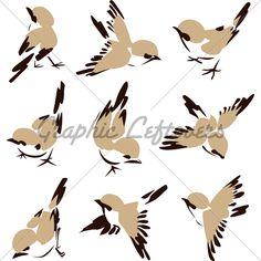 Little Bird Illustration Nice collection of bird graphics.
