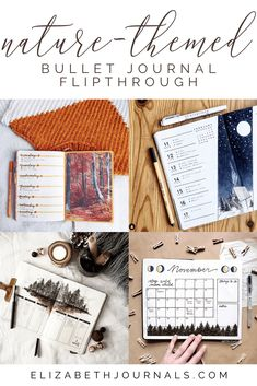 Nature is such a soothing and calming bujo theme. This round-up of bullet journal layout was inspired by calming nature themes and visuals. Monthly Bullet Journal Layout, Bullet Journal Mood Tracker Ideas, Bullet Journal Travel, Bullet Journal Quotes, Bullet Journal How To Start A, Bullet Journal Spread, Bullet Journal Inspiration, Journal Ideas, Bullet Journal Aesthetic