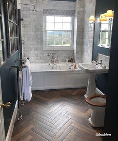 Discover high-quality wood effect tiles for floors in our extensive range. Stylish and durable, these wood effect tiles will stand the test of time. Wood Tile Bathroom Floor, Wood Tile Floors, Brick Flooring, Penny Flooring, Garage Flooring, Linoleum Flooring, Grey Flooring, Flooring Ideas, Wooden Flooring