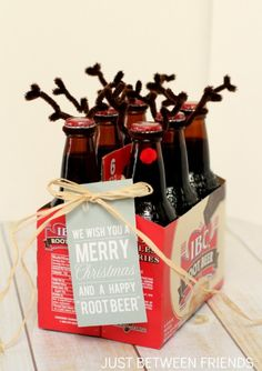 We Wish You a Merry Christmas & a Happy 'Root Beer' ~ Just Between Friends #shepicks gifts for neighbors #neighborgifts