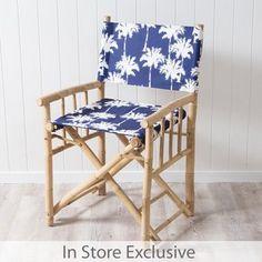 Havana Palm Bamboo Director Chair