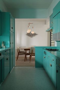 Mid-Century Modernist kitchen at The Fontenell, Palm Springs, California