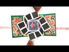 The Video Tutorials on craft, art and origami hosted by Paper Folds is useful for special occasions, events, Holidays and Festivals. Fun Fold Cards, Pop Up Cards, Folded Cards, Diy Cards, Paper Crafts Origami, Origami Cards, Origami Box, Exploding Gift Box, Love Card